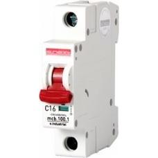 Модульный автоматический выключатель e.industrial.mcb.100.1.C16, 1 р, 16А, C,  10кА