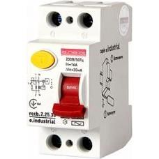 Выключатель дифференциального тока e.industrial.rccb.2.25.30, 2р, 25А, 30мА