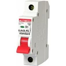 Модульный автоматический выключатель e.mcb.stand.45.1.B1, 1р, 1А, В, 3,0 кА