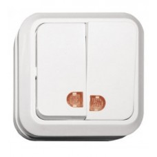 Выключатель двойной накладной OPERA с подсветкой