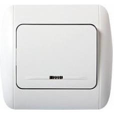 Выключатель e.install.stand.811L одноклавишный с подсветкой, с рамкой