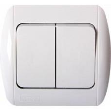 Выключатель e.install.stand.812 двухклавишный c рамкой