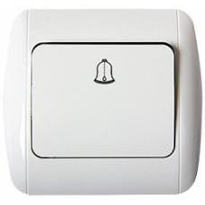 Выключатель e.install.stand.811D+f.cer звонка с рамкой