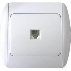 Розетка e.install.stand.819С1 компьютерная одинарная с рамкой