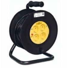 Катушка УК50 с термозащитой 4 места 2Р+PЕ/50метров 3х1 мм2