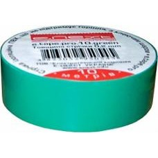 Изолента e.tape.pro.20.green из самозатухающего ПВХ, зеленая (20м)
