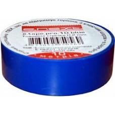 Изолента e.tape.pro.20.blue из самозатухающего ПВХ, синяя (20м)