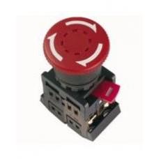 Кнопка AE22 «Грибок» с фиксацией красная Ø22мм 220В 1з+1р IEK