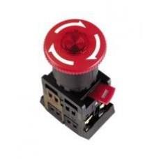 Кнопка ANE22 «Грибок» красная Ø22мм неон/220В 1з+1р IEK