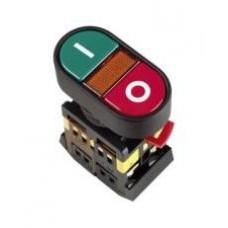 Кнопка APВВ-22N «I-O» Ø22мм неон/220В 1з+1р IEK