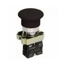 Кнопка LAY5-BC21 «Грибок» черная 1з IEK