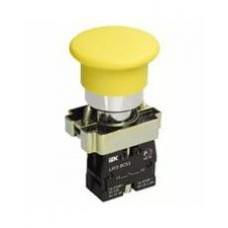 Кнопка  LAY5-BC51 «Грибок»  желтая 1з IEK