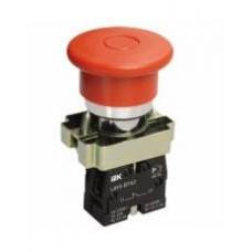 Кнопка LAY5-BT42 Грибок аварийная с фиксацией IEK