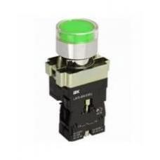 Кнопка LAY5-BW3361 с подсветкой зеленая 1з IEK