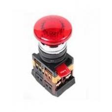 Кнопка AELA22 «Грибок» красная Ø22мм неон/220В 1з+1р IEK