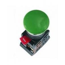 Кнопка AEА-22 «Грибок» зеленая Ø22мм 1з+1р IEK
